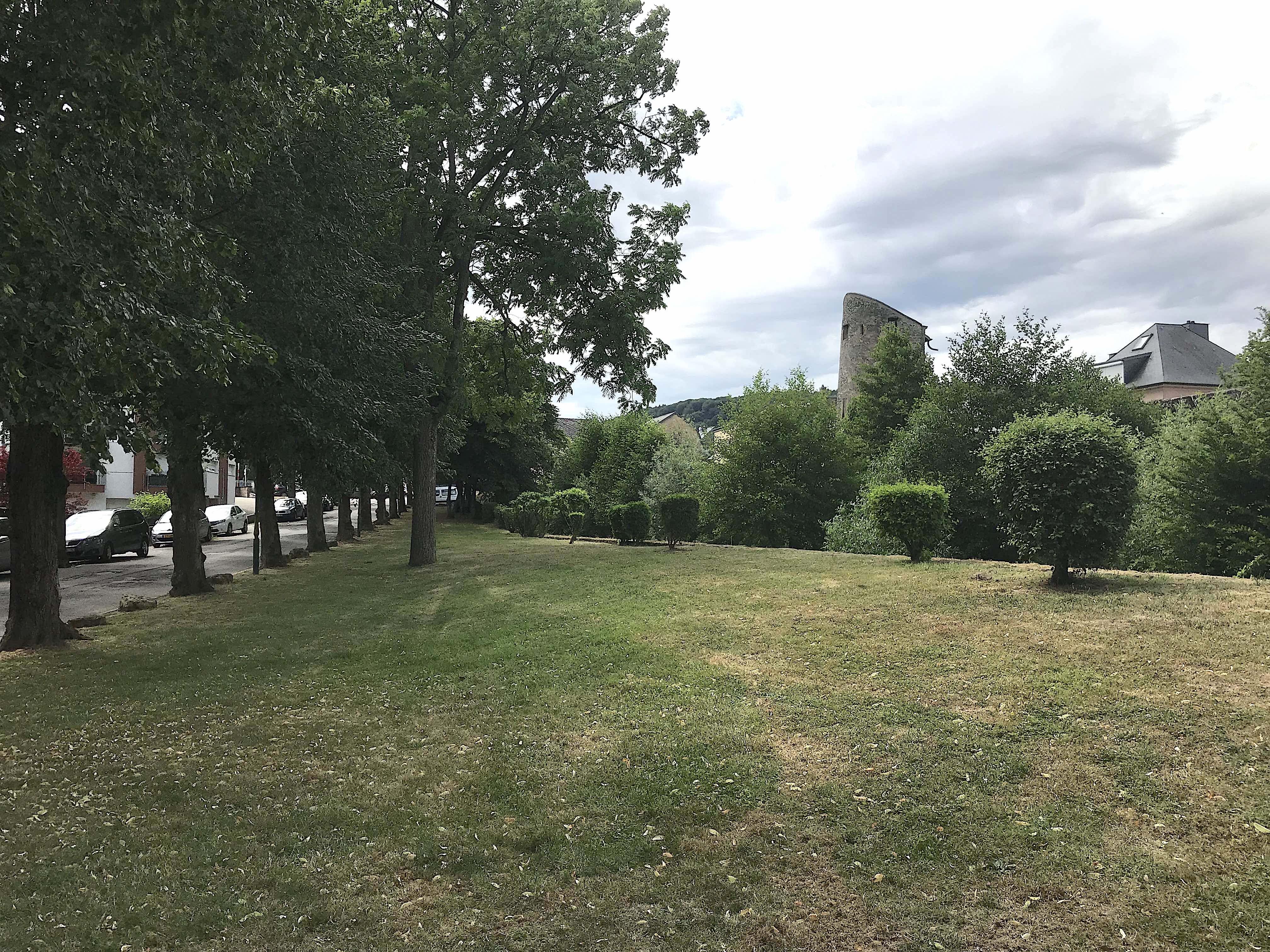 Rue des Bénédictins, Lindenallee, Schanzer Burgmauer